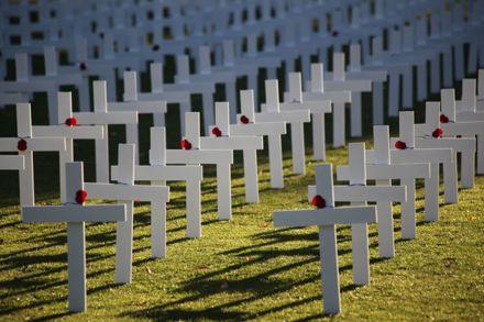 ANZAC Day 2015 - Memorial Crosses