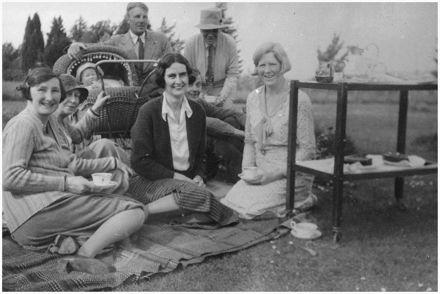 Caccia-Birch Family Having Tea