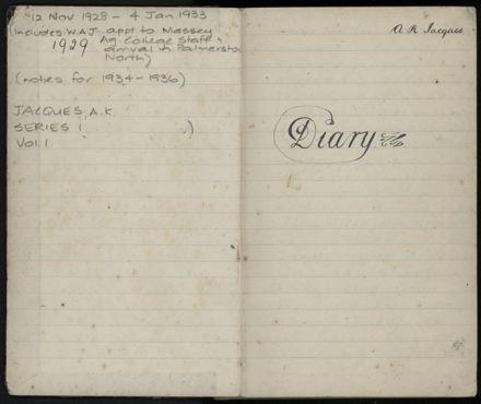Ann Jacques Diary - 2