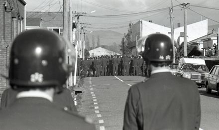 Police force engaged for anti-Tour and anti-Apartheid protests in the city.