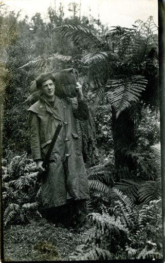 Les Davis in New Zealand bush