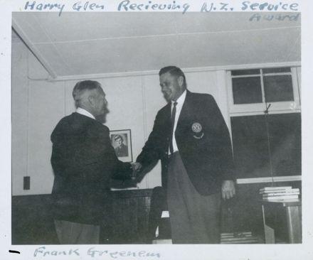 West End Amateur Swimming Champions - Harry Glen receiving NZ Service Award