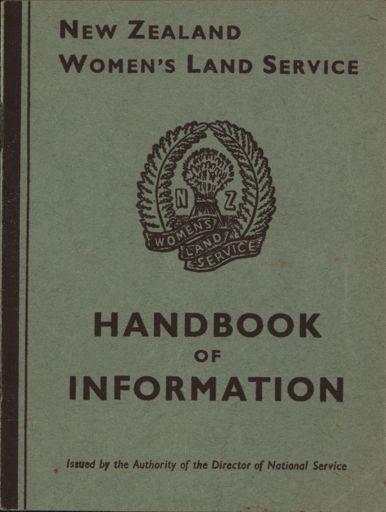 New Zealand Women's Land Service Handbook of Information