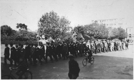 Wellington Regiment Annual Reunion Church Parade, The Square