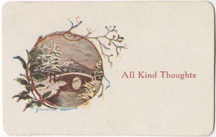 Souvenir, Embroidered WWI Postcard – card