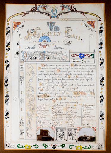 Illuminated Manuscript to J Craven, 1906