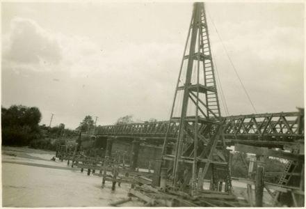 Construction of Second Fitzherbert Bridge