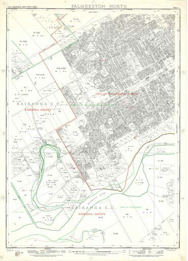 NZ Cadastral Map - Town Series: Palmerston North Map 4