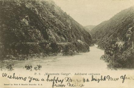 Manawatu Gorge, Ashhurst entrance