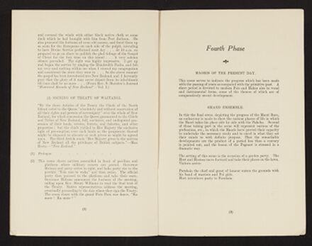 Historical Maori Pageant Souvenir Programme 6