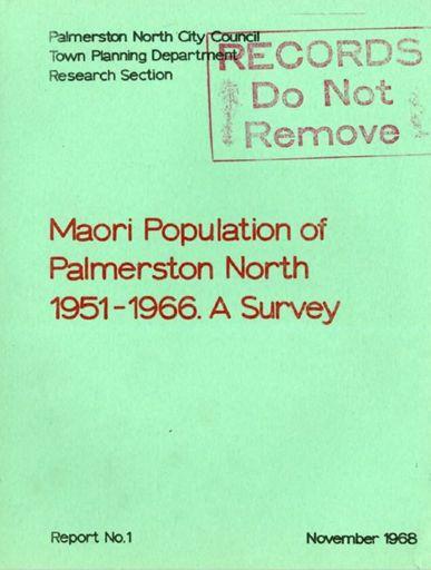 Māori Population of Palmerston North 1951-1966: A Survey