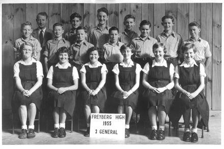 3rd Form Class, Freyberg High School, 1955