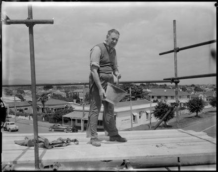 """Last Pour of Concrete for [St. Peter's] Church"""