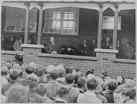Richard Linton Addressing a School Group