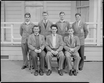 Seven Male Students, Palmerston North Teachers' College
