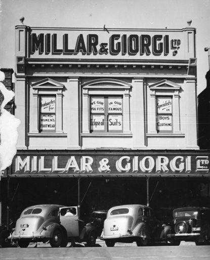 Millar and Giorgi menwear shop, The Square