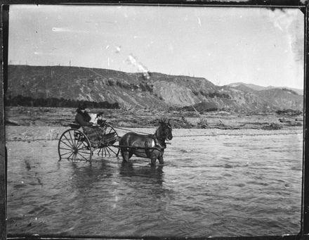 Fording the Pohangina River
