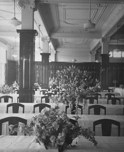 C M Ross Co. Ltd tearooms decorated for Royal Civic dinner