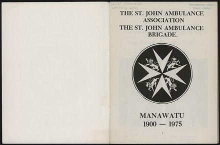 History of the St John Ambulance Association Manawatu, 1900-1975 2
