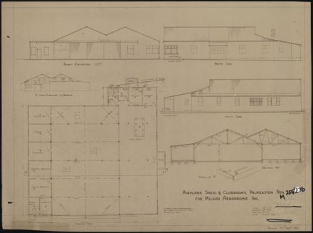 Plan for airplane sheds and clubrooms