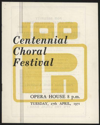 Centennial Choral Festival programme