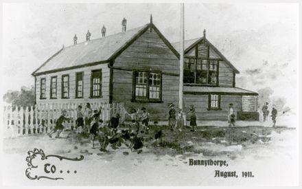 Sketch of Bunnythorpe School