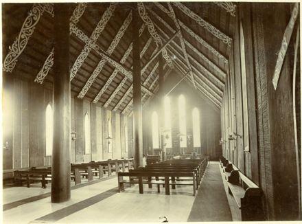 Interior of the Rangiātea Māori Church, Otaki
