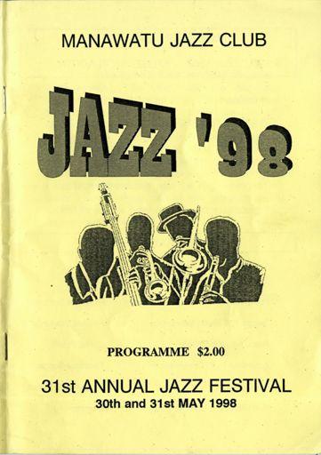 Manawatū Jazz Festival programme, 1998