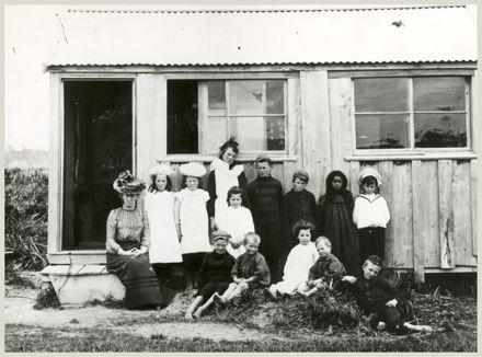 Pupils and Teacher at Himatangi Mill School