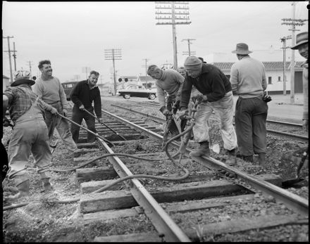 """""""Relaying the Main Line' Workers Upgrading the Railway Tracks"""