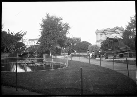 Lakelet and Cannon in the Square