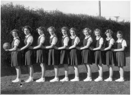 Palmerston North Technical College 'F' Netball Team, 1954