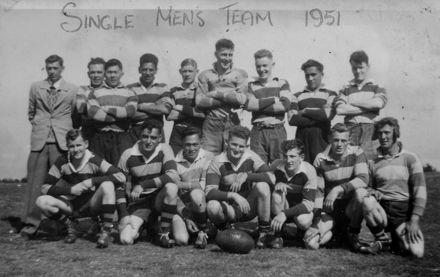 Foxton Rugby Single Men's Team 1951