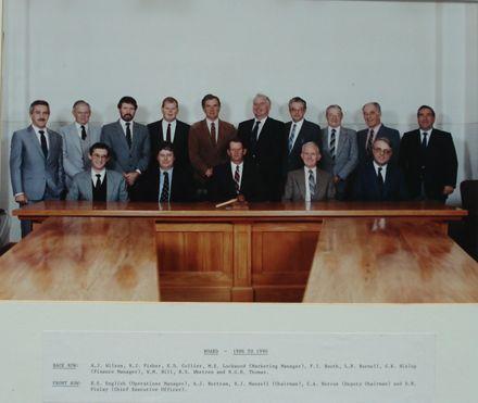 Members of the Board (15), 1986 - 1990