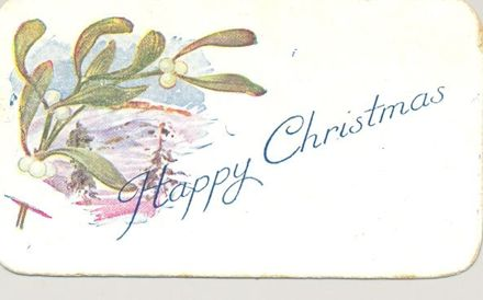 Hope and Love - an embroidered postcard.