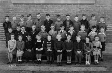 Foxton School Class 15 (?), 1951