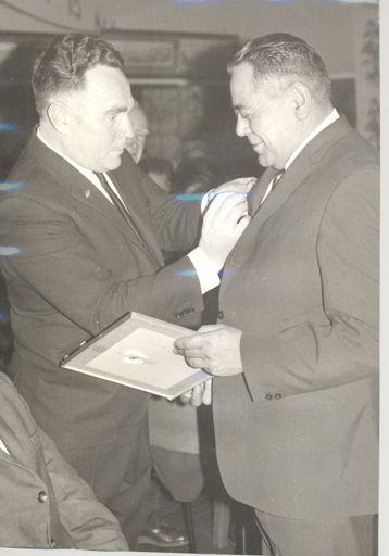 Presentation of badge & framed certificate to Ben Bell, Otaki