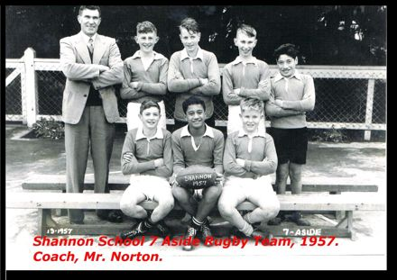 Shannon School 7 Aside Rugby Team, 1957.