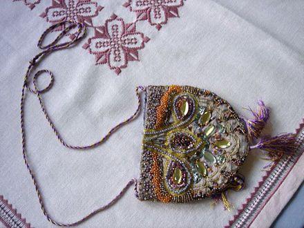 A beaded purse