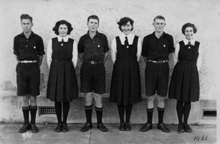 Foxton School Prefects, 1951