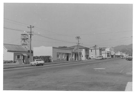 Queen St. (west), looking east from Salisbury St., 1970