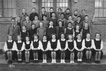Foxton School Class 18 (?), 1951