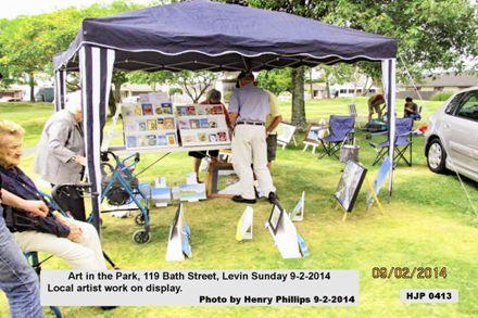 0032  HJP 0413   Art in the Park, 119 Bath Street, Levin Sunday 9-2-2014   Local artist work on display
