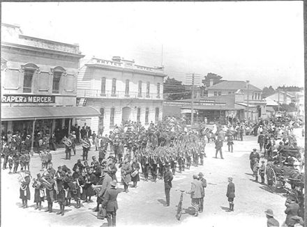 Parade in Main Street at End of WW I