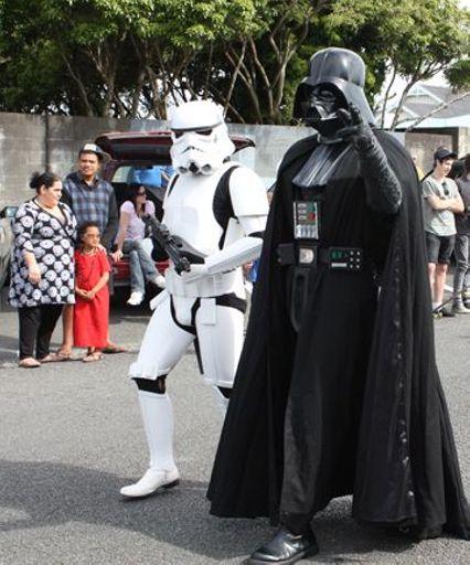 Darth Vader and a stormtrooper at Levin Christmas Parade 2011 E Post photoDarth Vader and a stormtrooper at Levin Christmas Parade 2011 E Post photo.jpg