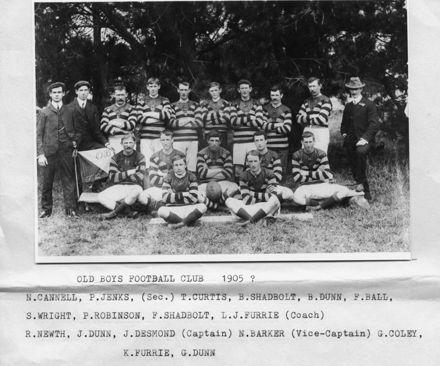 Foxton Old Boys Rugby Team 1905?