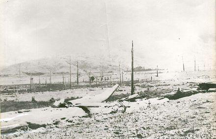 05 Back of homestead at Cheslyn Rise. Looking towards Denaby. Heavy snowfall. 1899