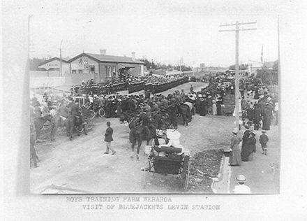 Visit of Bluejackets at Levin Railway Station