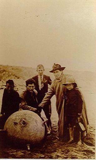 German Mine, Hokio Beach, 1918