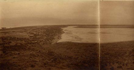 Okupe Lagoon and 'Lily' shipwreck, Kapiti Island, 1921